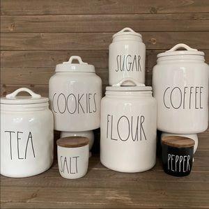 RAE DUNN CANISTER SET COFFEE TEA SUGAR COOKIES